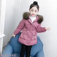 冬季女童棉衣冬装2018新款儿童女孩洋气中长款加厚羽绒宝棉袄外套秋冬新款