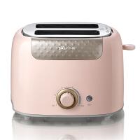 Bear/小熊 DSL-601烤面包机全自动家用早餐2片吐司机土司多士炉 (粉色)