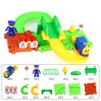 儿童小火车玩具3-8周岁男孩过山车宝宝过山洞爬梯轨道车电动玩具