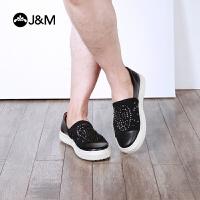 jm快乐玛丽2018春季新款时尚铆钉舒适拼接休闲平底鞋男鞋子83051M