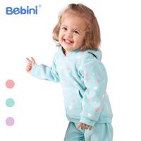 比比昵Bebini婴儿服装宝宝衣服童套装女童摇粒绒套装2018春季新款