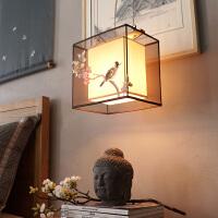 中式吊灯客厅灯手绘灯饰[摆设中式]现代布艺书房吊灯卧室灯