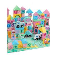 儿童积木玩具1-2周岁女孩男孩宝宝3-6岁木头拼装积木早教益智玩具