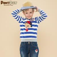 【3件2折 到手价:92】Pawinpaw宝英宝卡通小熊童装冬季款男童卫衣