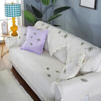实木沙发垫四季加厚通用防滑布艺坐垫现代简约客厅三人座套罩