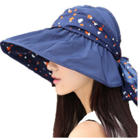 帽子女夏天遮阳帽夏季女士户外防晒帽子可折叠沙滩太阳帽