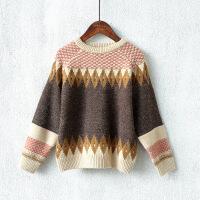 童装儿童针织衫男童毛衣套头秋冬款韩版拼接宝宝保暖衣外穿
