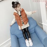女童套装2018秋冬装新款韩版中大儿童加厚洋气卫衣马甲两件套潮衣