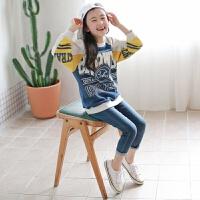 2019 时尚童装卫衣韩版亲子装春款童卫衣英文印花童长袖 灰色