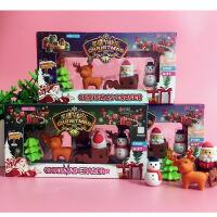 卡通橡皮 圣诞套装 学生文具奖品 圣诞礼物 圣诞橡皮礼盒装