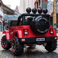 越野儿童电动车四轮玩具车可坐人宝宝带遥控小汽车小孩摇摆儿童车