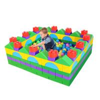 游戏围栏大型积木儿童护栏栅栏宝宝塑料积木室内爬行学步栏