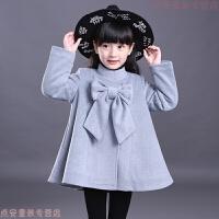 女童呢子大衣2018新款韩版洋气公主儿童毛呢外套中长款秋冬装