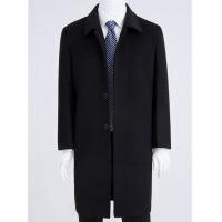 季中老年男羊毛呢大衣加长过膝呢子风衣厚款爸爸装老人毛呢外套