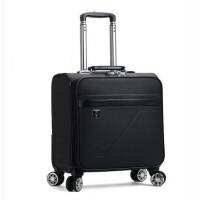 18寸拉杆箱女小皮箱万向轮空姐登机箱横款行李箱男商务手提旅行箱 黑色 艾马仕纹潮流款 18寸