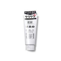 日本资生堂UNO吾诺男士洗面奶活性黑炭洁面乳130g 清爽