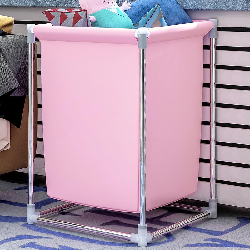 索尔诺脏衣篮 折叠脏衣篓储物桶大号脏衣服收纳筐布艺家用洗衣篮简单安装 玩具脏衣服多用途