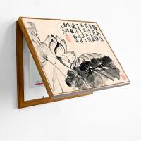 新中式装饰画现代客厅卧室餐厅挂画书房玄关壁画挡电表箱配电箱画SN3343 60高*80宽覆盖50*70 单幅价格