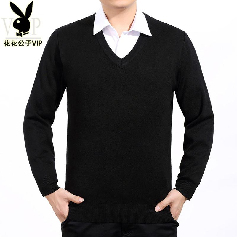 羊毛衫中年鸡心领针织衫商务男士纯色V领毛衣打底衫加厚 发货周期:一般在付款后2-90天左右发货,具体发货时间请以与客服协商的时间为准