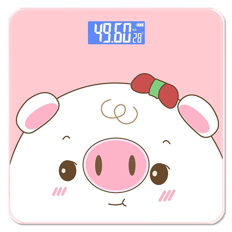 体重秤家用精准减肥称重人体电子秤女生宿舍小巧型智能体脂秤 可选测体脂款