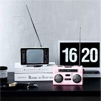 创意复古老式收音机电视机摆件装饰品道具