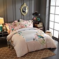 家纺全棉磨毛四件套加厚纯棉1.8m2米被套婚庆床上4件套冬 天使ANGLE (粉)