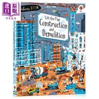 【中商原版】Lift-the-flap: Construction Demolition 尤斯伯恩翻翻学:古建筑 儿童科
