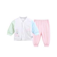 新生儿内衣套装柔软微弹宝宝家居服保暖春夏