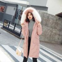 羽绒服女2018韩版中长款宽松时尚冬季显瘦学生大毛领潮外套