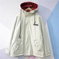 新款夹克男冬季加绒加厚韩版羊羔毛潮流ulzzang情侣装外套潮