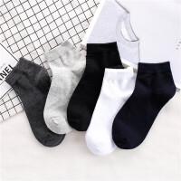 袜子男中腰夏季纯棉防臭中袜运动棉袜中帮皮鞋黑色商务男士中筒袜 39-43