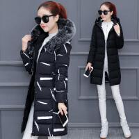 棉衣女中长款2017冬装新款时尚韩版羽绒冬季加厚保暖棉袄外套