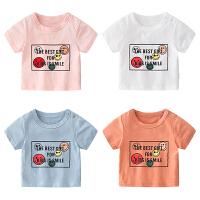 男婴儿女童夏季男宝宝婴儿短袖T恤1儿童夏装休闲童装
