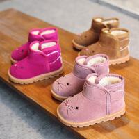 冬季新款儿童卡通靴子女童雪地靴男童棉鞋加绒宝宝鞋短靴