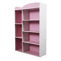 [当当自营]慧乐家 书柜书架 七格收纳柜 木质报刊储物柜 粉白色 11329-5