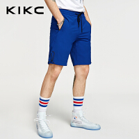 kikc针织短裤男2018夏季新款青少年运动休闲拉链口袋沙滩裤子男士