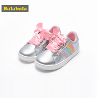 巴拉巴拉童鞋女童运动鞋2018春季新款小童透气网鞋儿童轻便跑鞋女