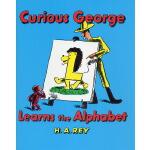 廖彩杏英文原版绘本 Curious George Learns the Alphabet 书单好奇乔治猴学字母 H.