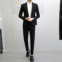 西服英伦风潮韩版修身型商务休闲正装帅气青年个性小西装男士套装