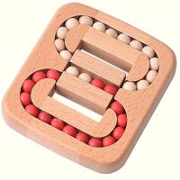 孔明锁系列玩具玩具迷宫游戏 平面滚珠木玩 桌面游