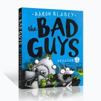 英文原版绘本 The Bad Guys 大坏蛋/砍人先生第4集 Aaron Blabey儿童黑白漫画故事电影小说桥梁书