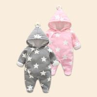 0-1岁男宝宝连体衣冬棉加厚爬服婴儿外穿服女0-6个月新生儿爬服秋