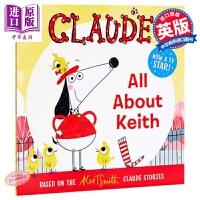 【中商原版】狗狗的非凡生活2 Claude: All About Keith 动画卡通 亲子绘本 绘本故事书 12岁以上
