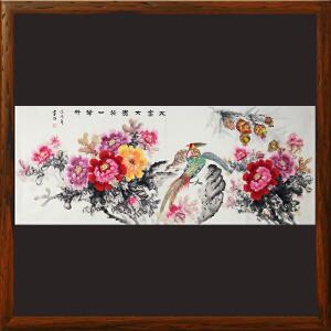 1.8米《大富大贵笑口常开》王富财-中国书画家协会理事,江西美协会员R2175