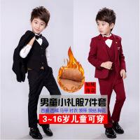 男童西装套装秋冬演出2018新款韩版儿童小西装套装加绒花童小礼服