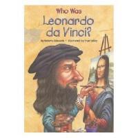 【现货】英文原版 Who Was Leonardo Da Vinci? 漫画名人传记:莱昂纳多・达・芬奇是谁 中小学生