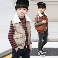 男童马甲秋冬季2018新款秋装韩版中大童冬装外穿儿童坎肩加绒加厚
