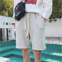 港风夏季新款色直筒短裤男士韩版运动宽松卫裤青少年休闲五分裤