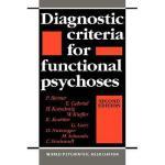 【预订】Diagnostic Criteria for Functional Psychoses