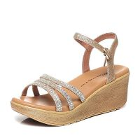 Tata/他她夏季专柜同款金布女凉鞋2NTB2BL6